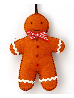 Felt Gingerbread Man Kit - Makes 1
