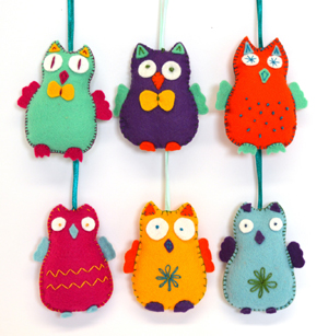 Happy Owls Felt Kit - Makes 6