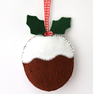 Christmas Pudding Felt Kit - Makes 1