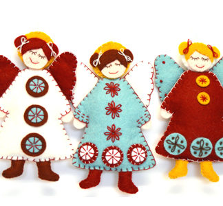 Scandinavian Angels Felt Kit - Makes 3