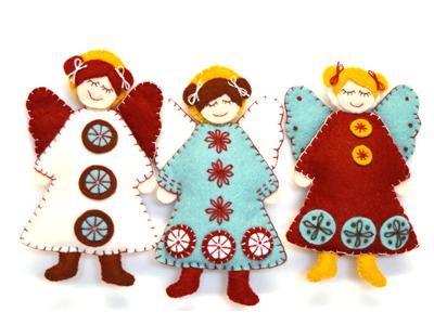 Scandinavian Angels Felt Kit - Makes 3
