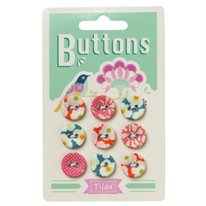 Tilda - Harvest Fabric Covered 15mm buttons