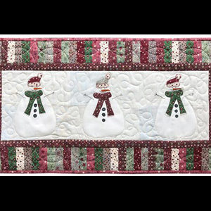 Let's Build a Snowman Table Runner pattern