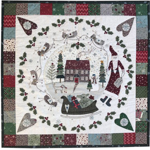 Hollyberry House wallhanging pattern