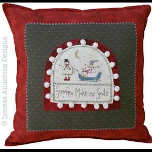 Snowmen Make Me Smile Cushion pattern