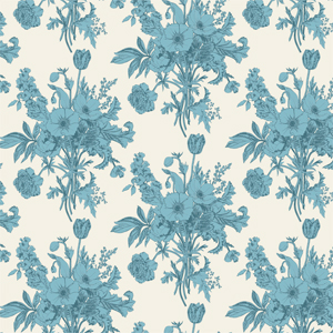 Tilda Cottage - Botanical Blue Fabric