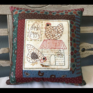 Hens Live Here Pillow pattern