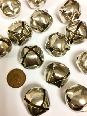 25mm silver jingle bell coast country