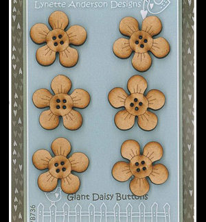 Giant Daisies wooden buttons