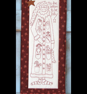 Jolly Santa pattern and pre-printed calico
