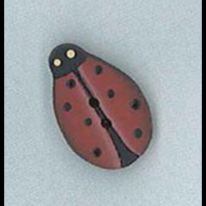 Mrs Ladybird Handpainted wooden button