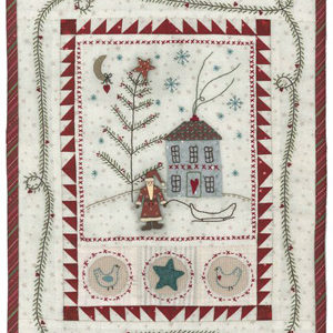 Primitive Christmas stitchery pattern