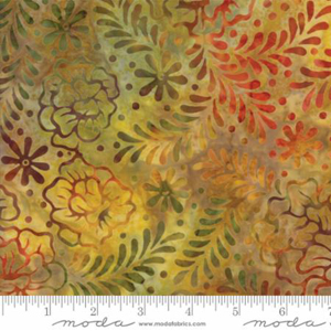 Moda Salsa Spice Batik Fabric - Gold