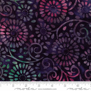 Moda Bonfire Night Sky Batik Fabric - Dark Blue & Purple