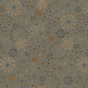 My Back Porch - Flower Toss Grey Fabric