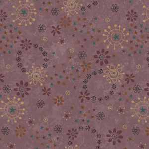 My Back Porch - Flower Toss Plum Fabric