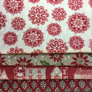 French General - Red Petite Maison Pack 4 x 1/2m's