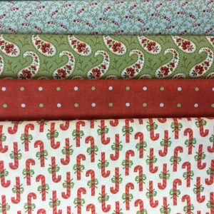 Snowfall Fabric Pack 4 x 1/2 pieces