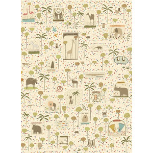 To the Zoo - Characters Fabric