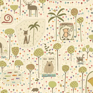 To The Zoo Fabric by Hatched & Patched