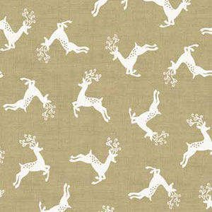 Scandi Deer Scatter Taupe fat 1/4