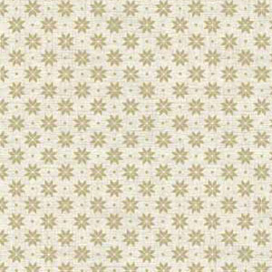 Scandi Nordic Snowflake Taupe on Cream fat 1/4