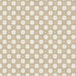 Scandi Nordic Snowflake Cream on Taupe fat 1/4