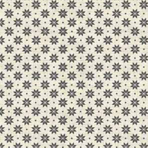 Scandi Nordic Snowflake Grey on Cream fat 1/4