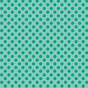 Polka Dot Turquoise Fat 1/4