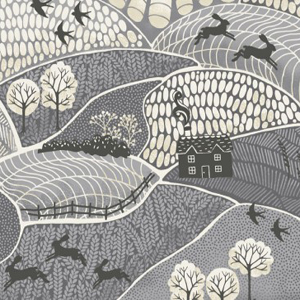 Into The Woods - Landscape Slate fabric