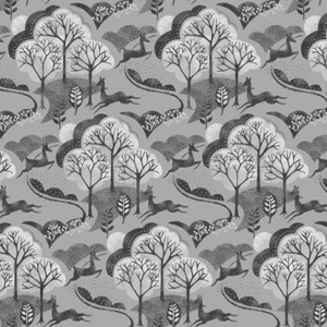 Into The Woods - Trees Slate fabric