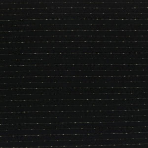 Yarn Dyed - Black with Stitched Lines Fat 1/4