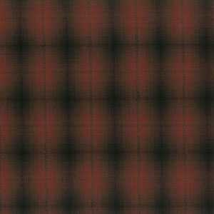 Yarn Dyed - Shaded Dark Red Check Fat 1/4