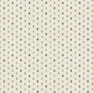 Hyakka Ryoran Indigo - Blue Dots on Cream Fat 1/4