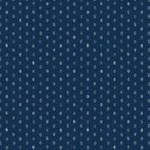 Hyakka Ryoran Indigo - Dots on Mid Blue Fat 1/4