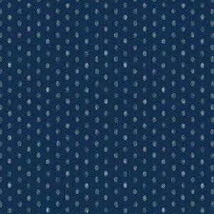 Hyakka Ryoran Indigo - Dots on Dark Blue Fat 1/4