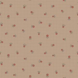 Garden Whimsy - Berry Taupe fabric