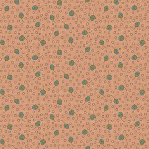 Garden Whimsy - Tossed Bud Peach fabric