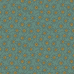 Garden Whimsy - Dandelion Light Blue fabric