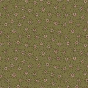 Garden Whimsy - Dandelion Green fabric