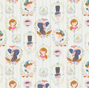 Neverland - Characters on Cream fabric