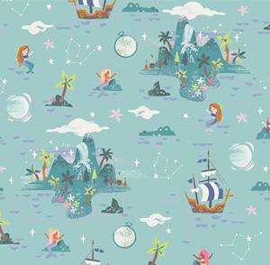 Neverland Island fabric