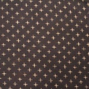 Japanese Textured Woven Fat 1/4 - Crosses Indigo