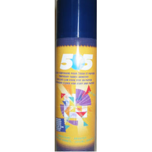505 Temporary Adhesive For Fabrics & Paper - 500ml - instore only