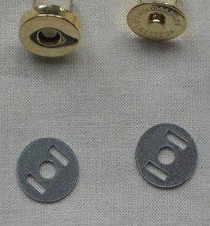 Magnetic Purse/Bag Clasp - Silver Set