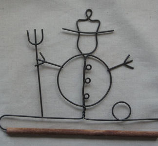 5 inch Snowman 1/4 inch Dowel Wire Hanger