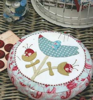 Lillys Bluebird pincushion kit
