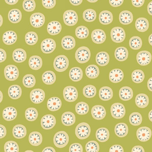 To the Zoo - Daisy Dots Primitive Green fat 1/4