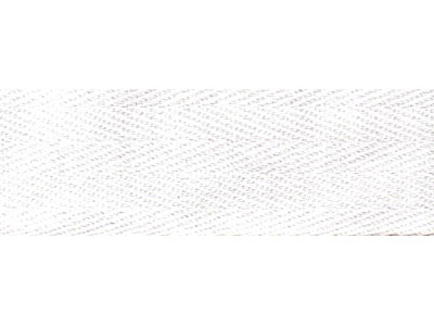 White Cotton Twill Tape - 11mm wide