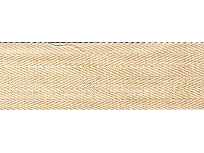 50m Cream twill tape - 11mm wide